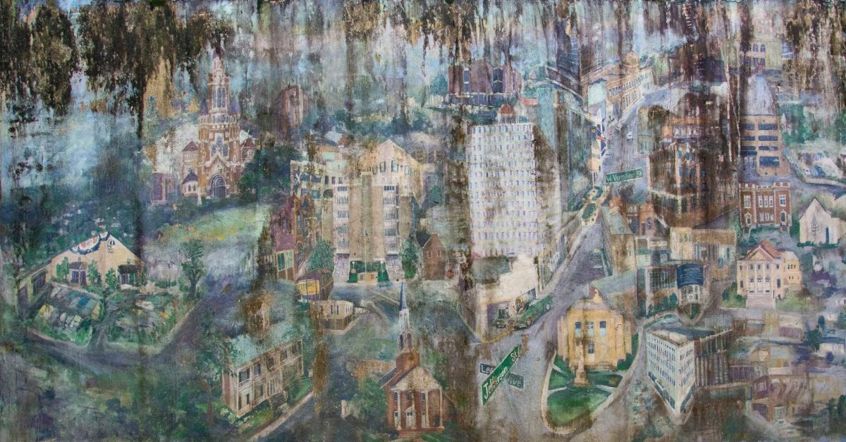 "Mural by Tanya Falgout titled ""Downtown Reawakening"""