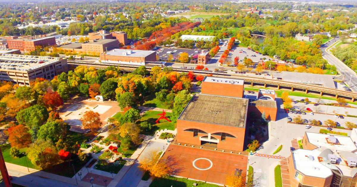 Aerial View of Arts United Campus