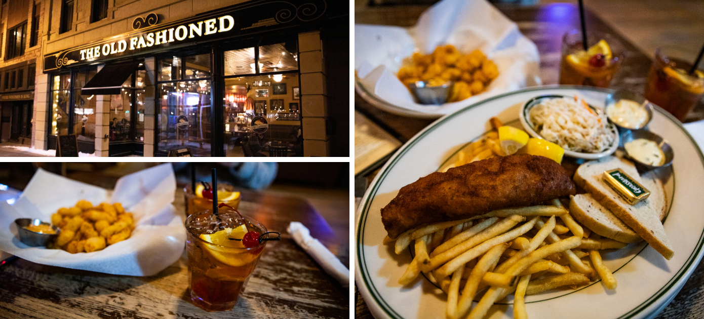 Fish fry, cheese curds, and old fashioneds at The Old Fashioned in Madison, WI