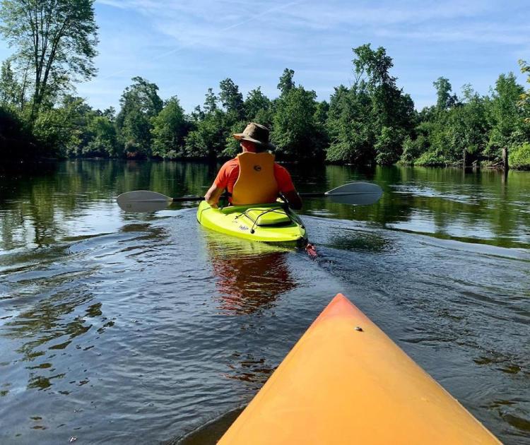 Kayaking on the Huron River