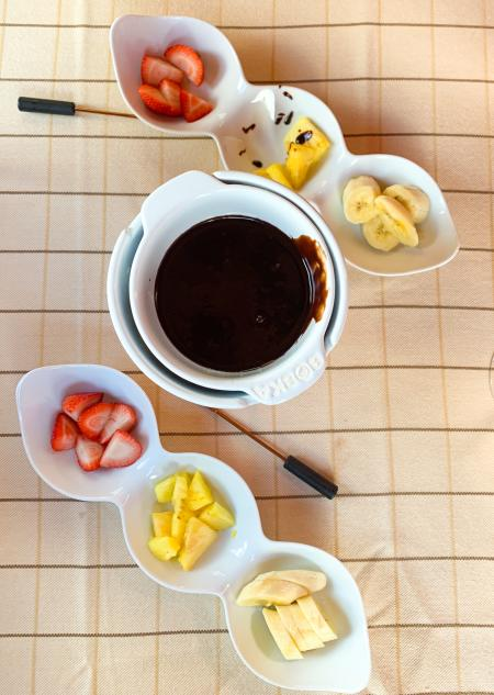 Chocolate Fondue at Ocean House