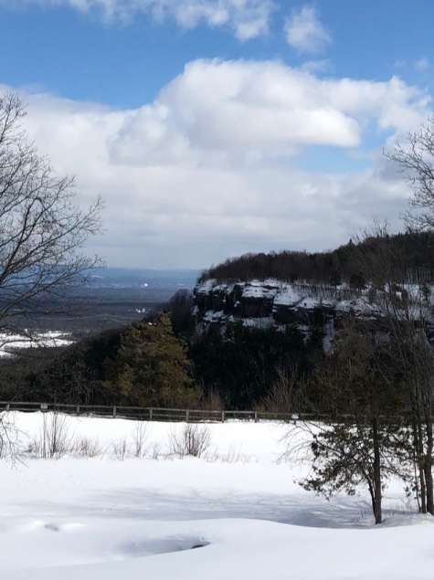 John Boyd Thacher Park in winter