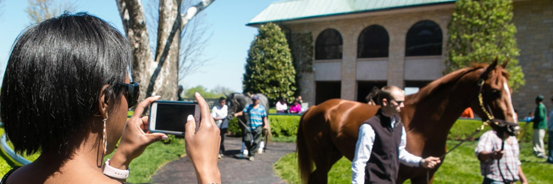 Photo Op in the Paddock at Keeneland