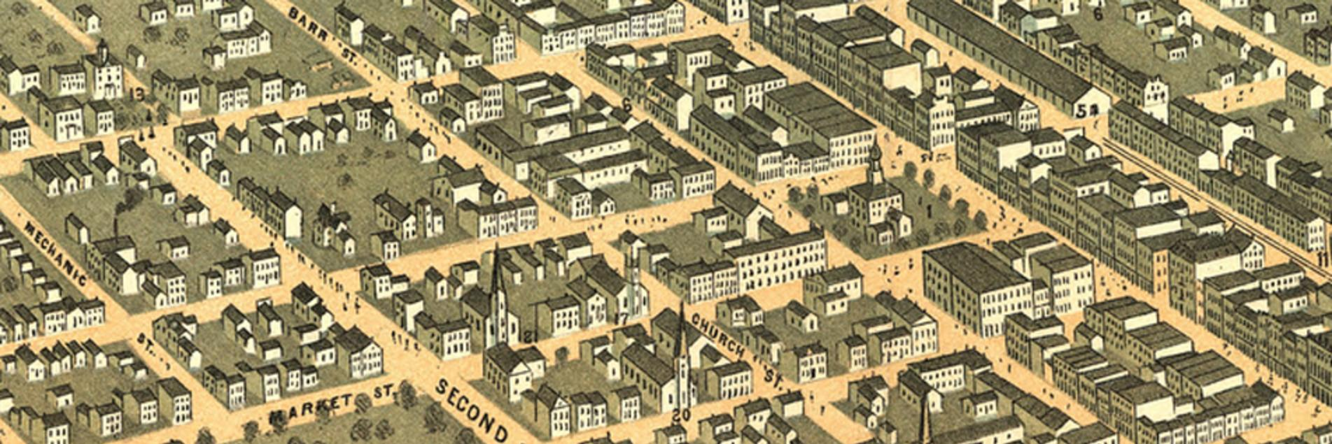 Old Map of Lexington