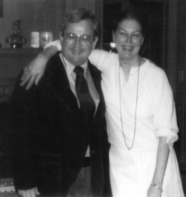 Ava Gardner with her arm around Dewey Sheffield at the 1978 Rock Ridge Day.
