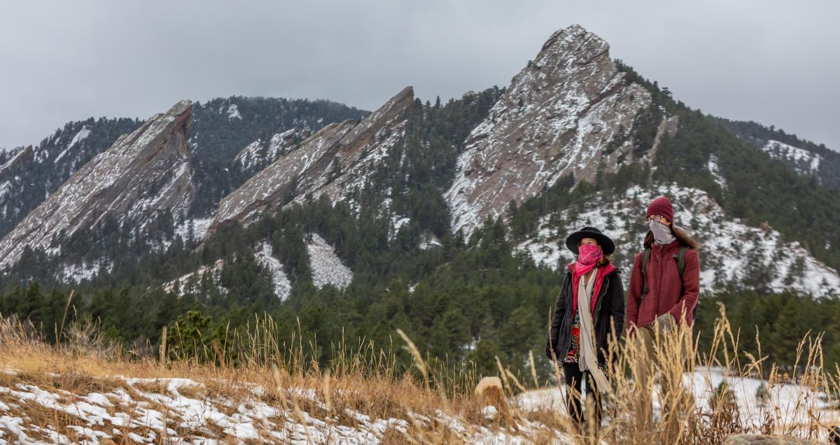 Winter Hiking at Flatirons