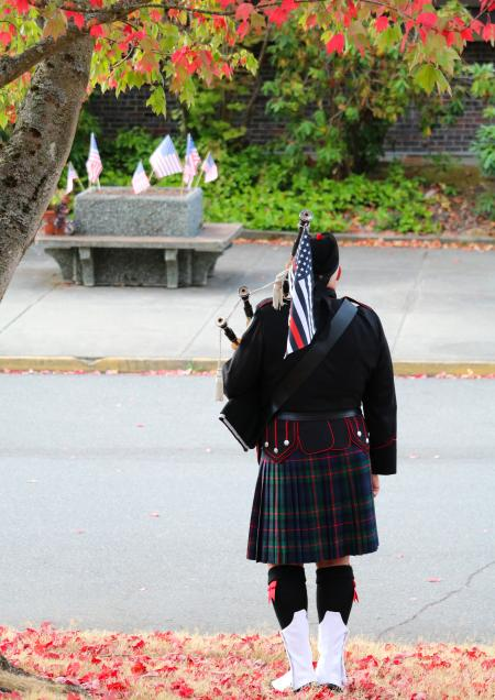 Bagpiper at September 11 ceremony