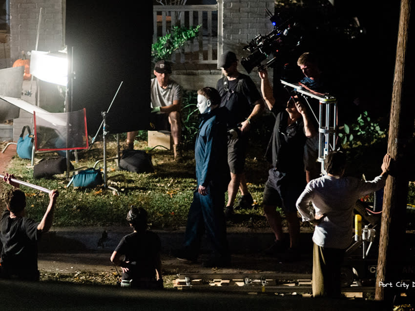 "Filming in progress of the movie ""Halloween Kills"" in Wilmington, NC"