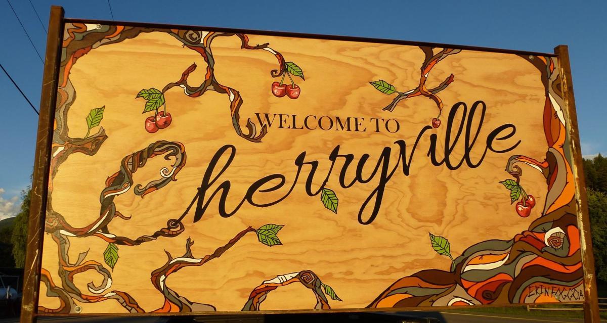 Cherryville sign