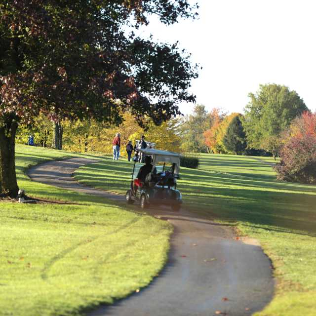 Golf course with cart