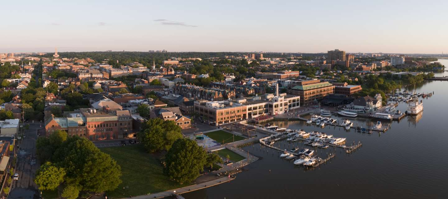 Aerial View of Old Town, Alexandria Waterfront