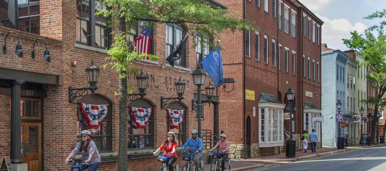 Riding a Bike in Alexandria