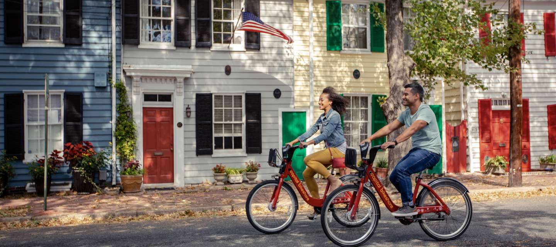 Biking on Queen Street