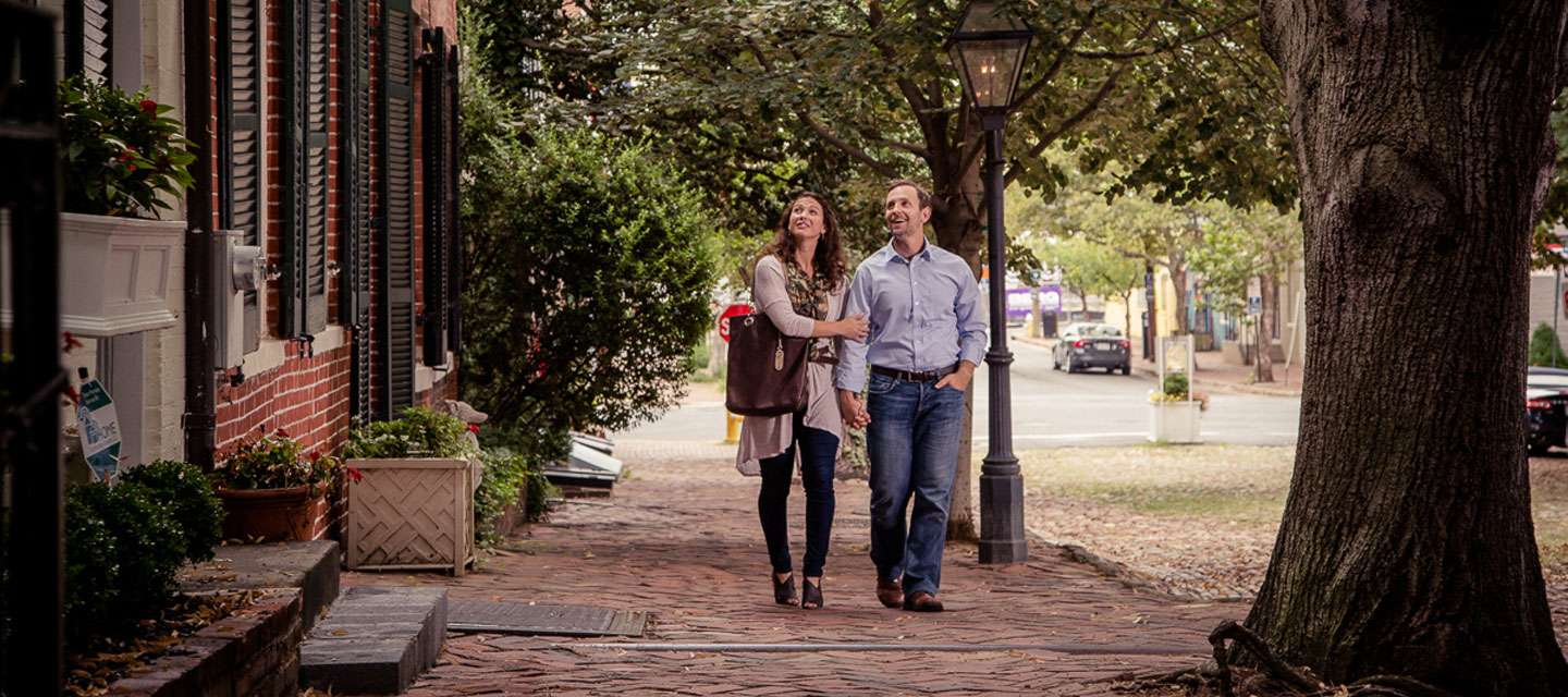 Couple Walking Together in Alexandria VA