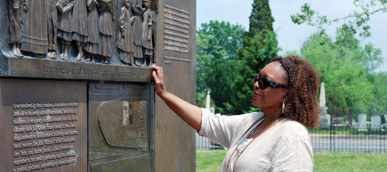 Freemen Cemetery Bas Relief
