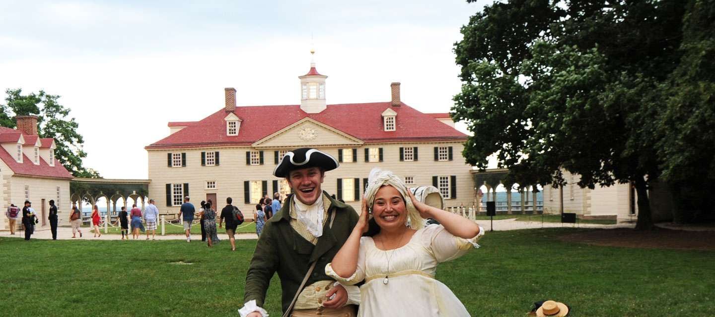 Actors In front Of George Washington's Mount Vernon