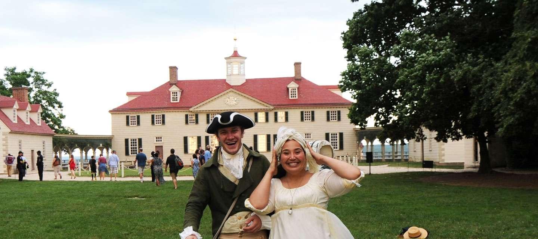 Actors In front Of George Washington's Mount Vernon