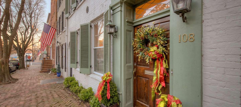 Holiday wreath block