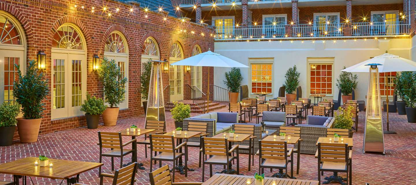 Outdoor Courtyard at the Alexandrian