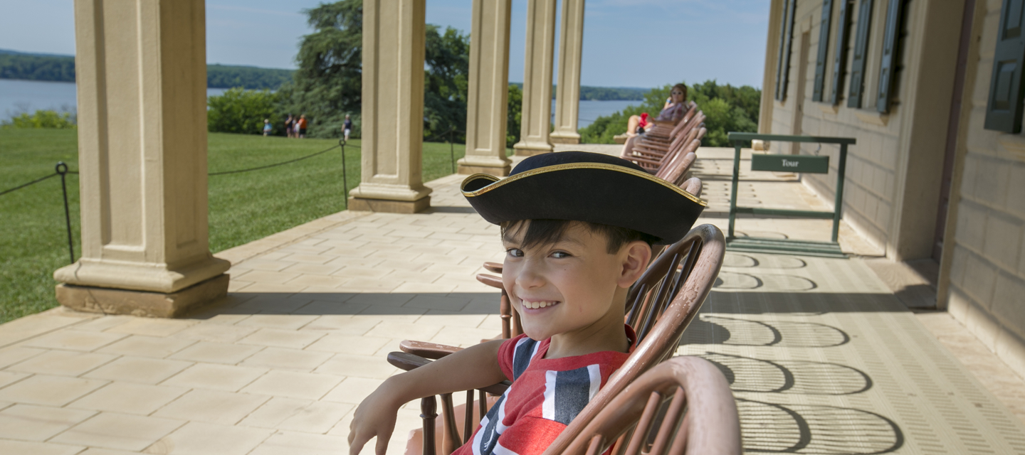Child at George Washington Mount Vernon