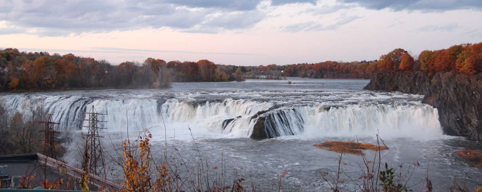 Cohoes Falls in Autumn