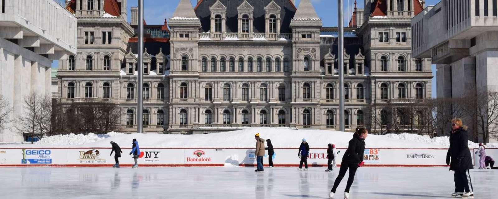 Ice Skating at the Plaza