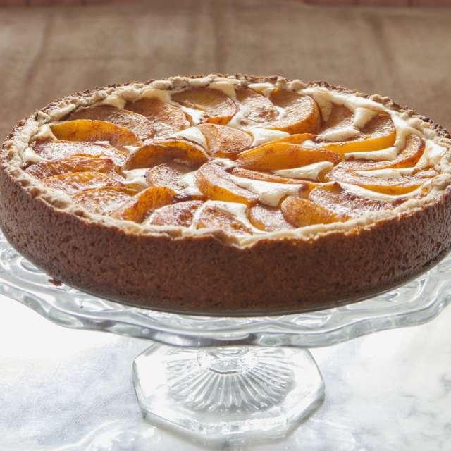 Peach-Topped Bavarian Torte Recipe
