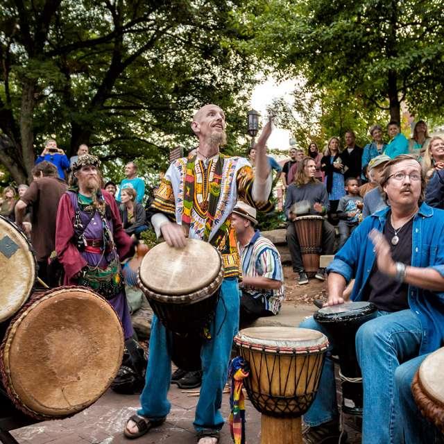 Asheville's Drum Circle