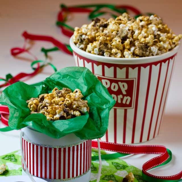 Caramel Chocolate Chip Cookie Popcorn Recipe