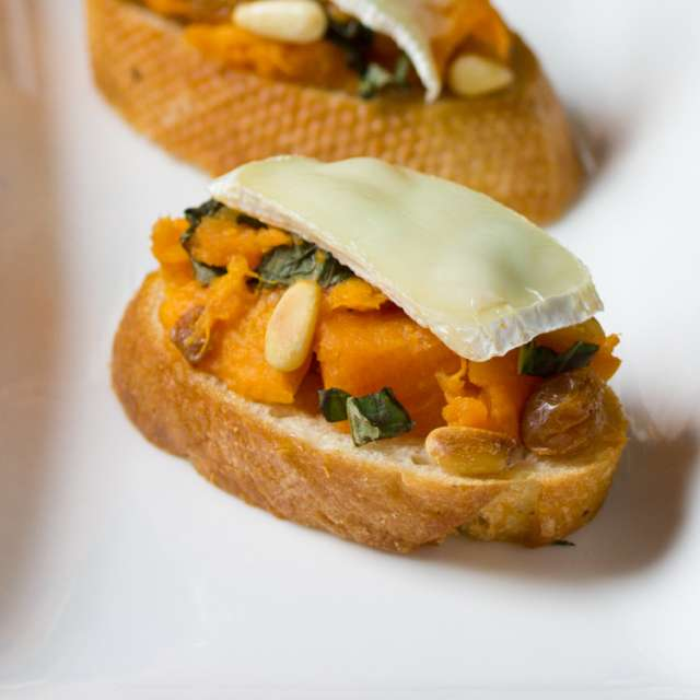 Sweet Potato and Brie Bruschetta Recipe