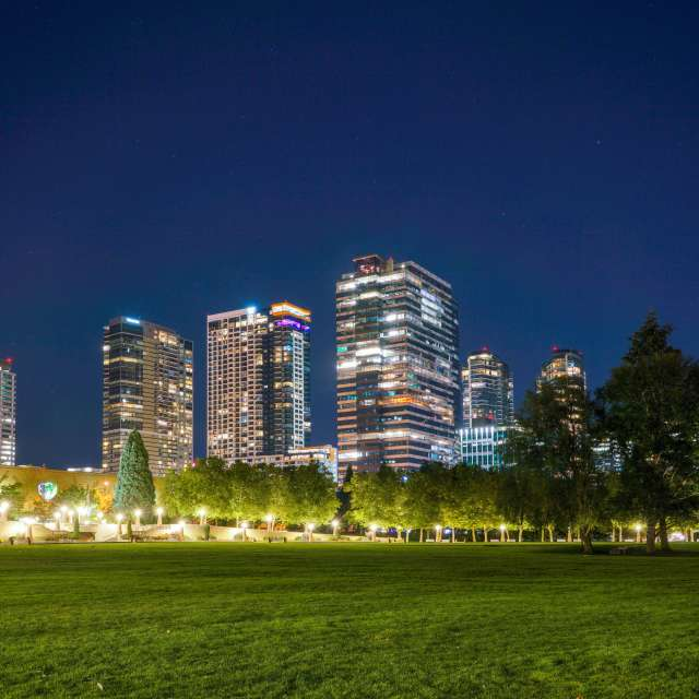 Bellevue Downtown Park Night