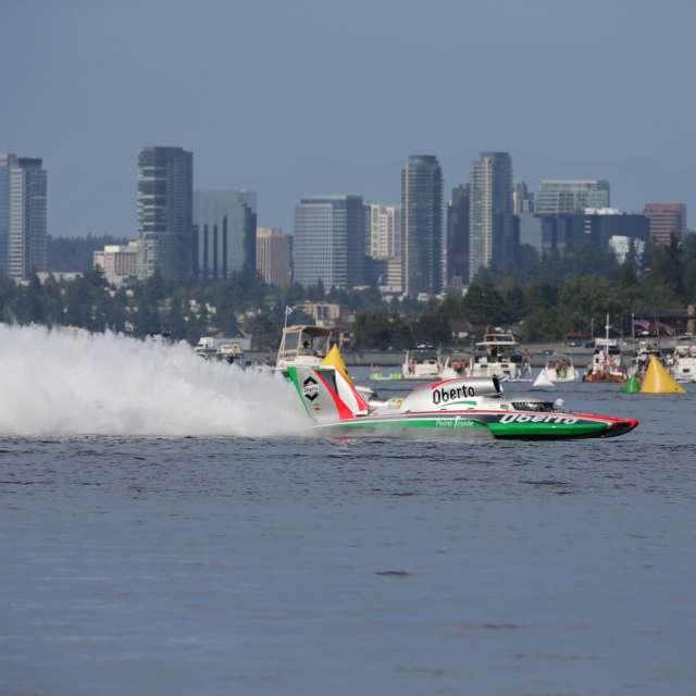 Seafair Hydroplane Bellevue Skyline