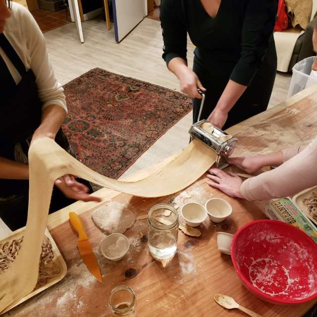 Mud Lab making pasta from scratch event