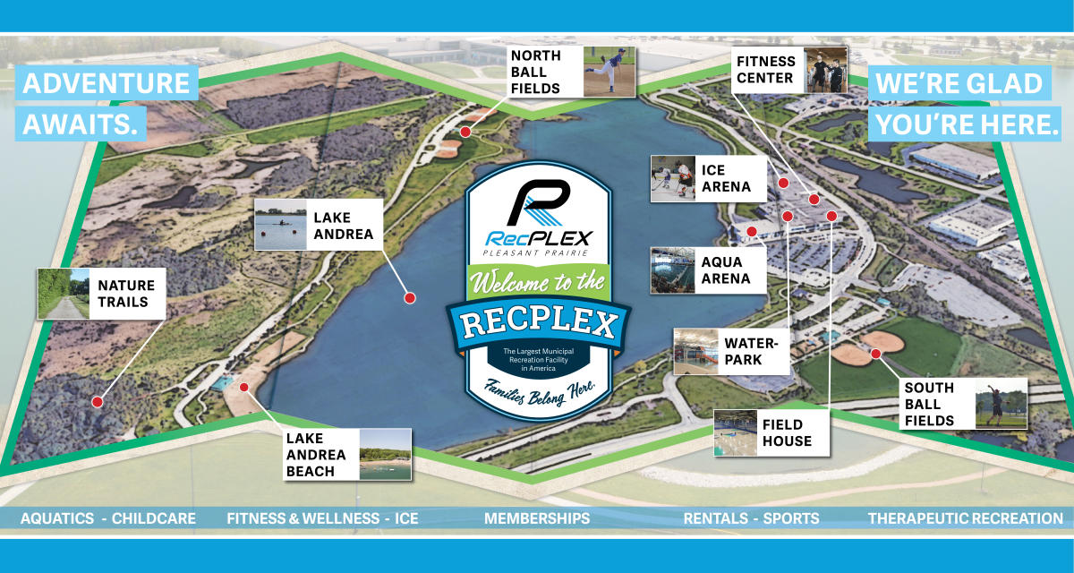 RecPlex welcome banner map