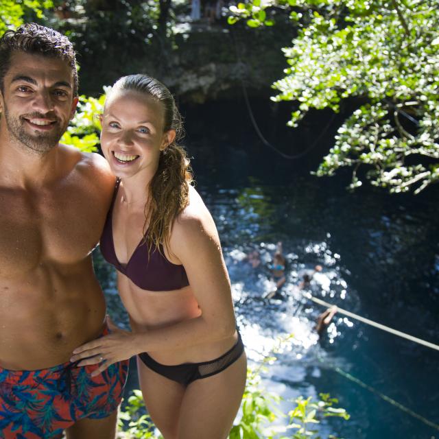 Couple Posing by Lagoon
