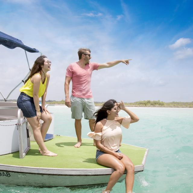 People Having Fun on Boat
