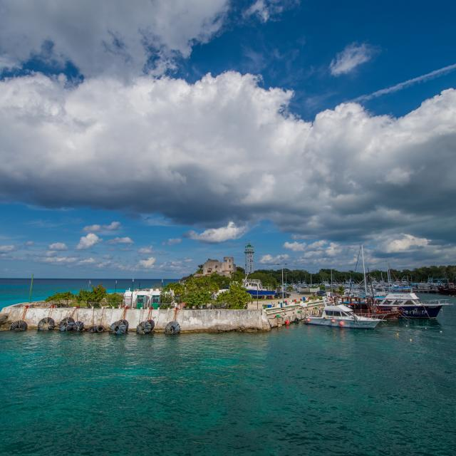 Cozumel Pier with Boats
