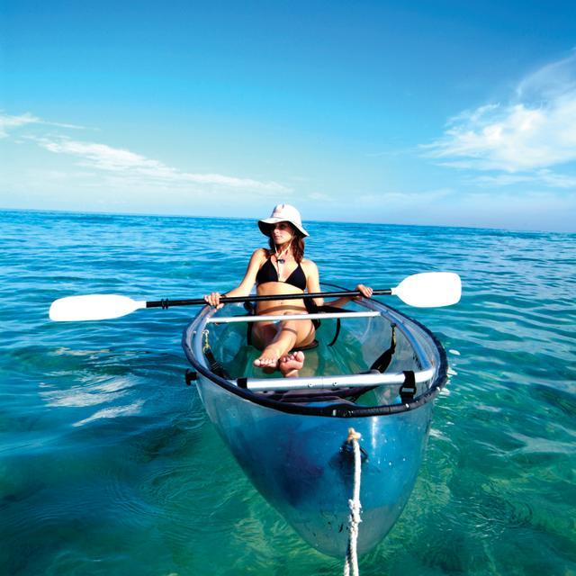 Woman Sea Kayaking