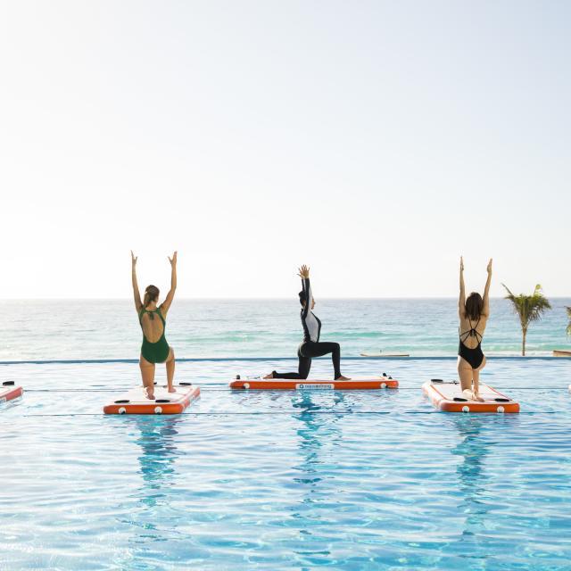 Couple Yoga Pool
