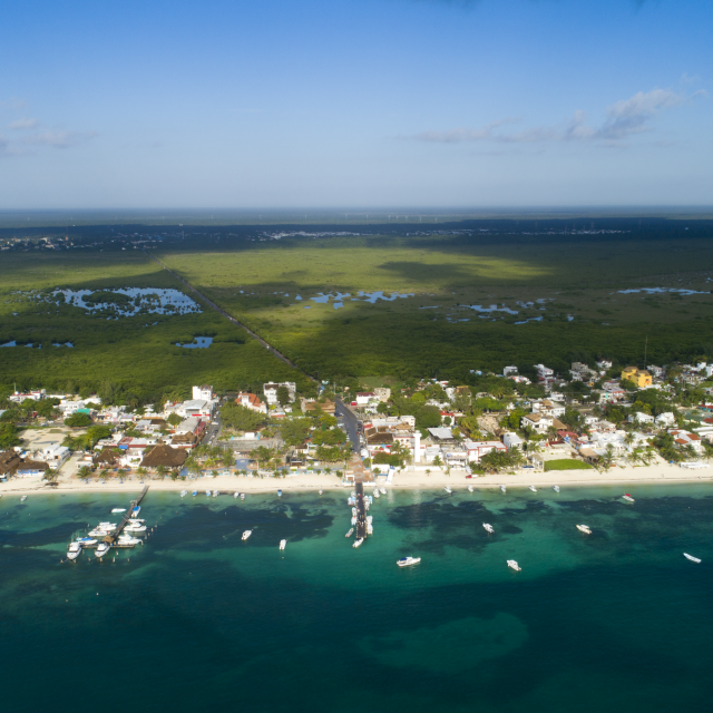 Puerto Morelos Aerial Photo