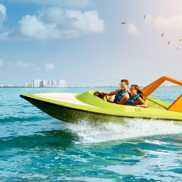 Cruising in Jungle Tour Boat