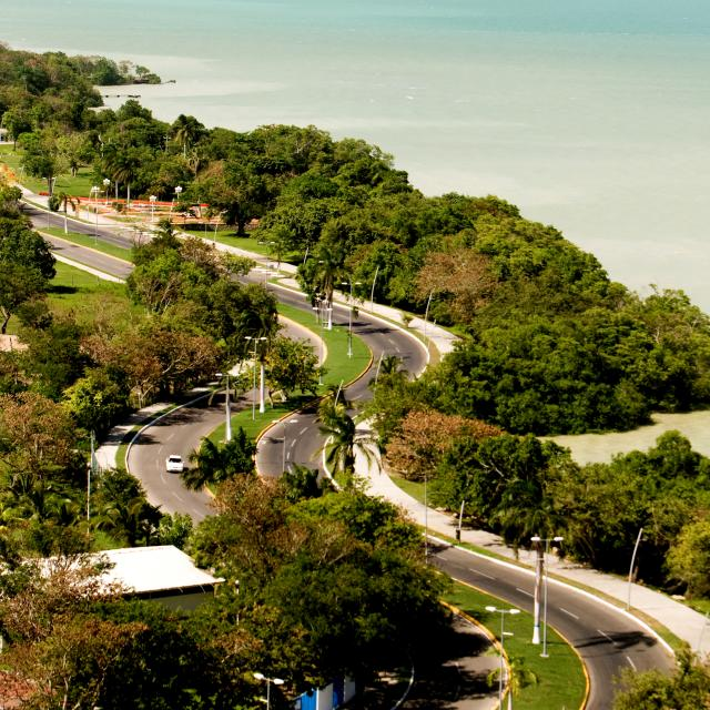 Winding Street in Chetumal