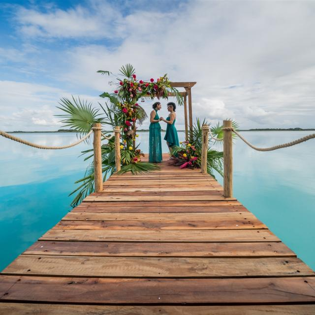 Wedding Ceremony on Pier