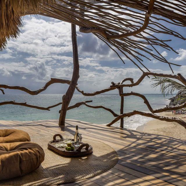 Beachside Hut with Deck
