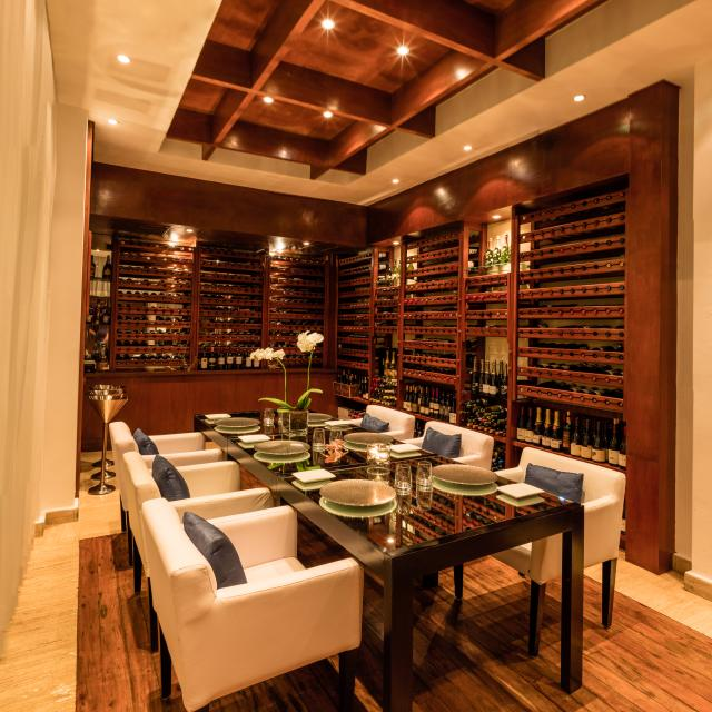 Fancy Table Setting in Wine Room