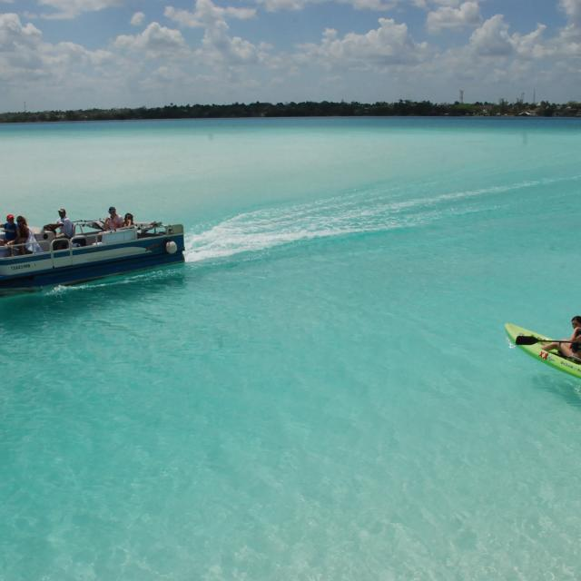 Pontoon Boat and Kayak