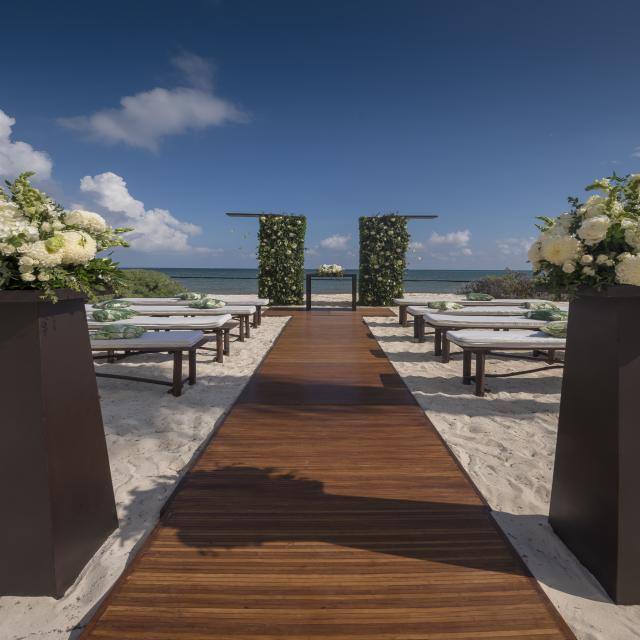 Wooden Walkway Beach Ceremony