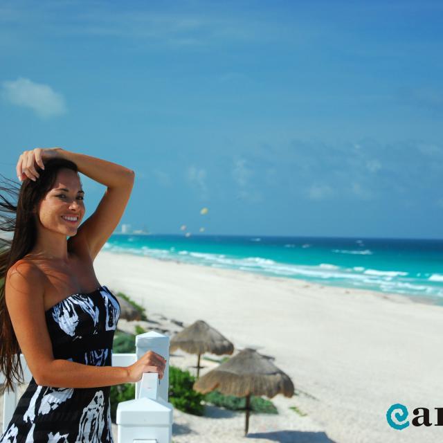 Woman Posing by Beach
