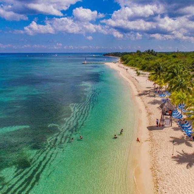 Cozumel Beach Aerial