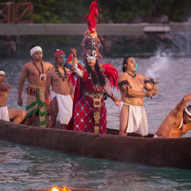 Mayan Culture Celebration Show on Boat